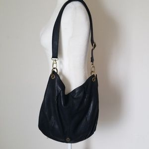 Authentic Fossil Leather Black Crossbody Purse
